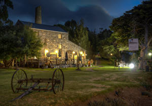 Wallpapers Australia Houses Evening HDR Cafe Second Valley military
