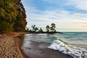 Bilder Kanada Küste See Wasserwelle Strand Toronto beach Lake Ontario