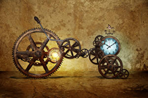 Photo Clock Antique Gear