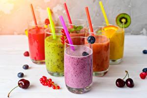 Bilder Cocktail Obst Kirsche Meertrübeli Trinkglas Bunte Lebensmittel