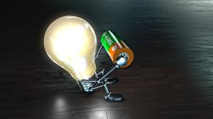 Photo Creative Sitting Bulb