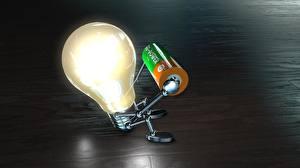 Photo Creative Sit Light bulb funny