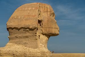 Wallpaper Egypt Head Made of stone Cairo, Sphinx