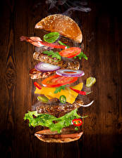 Wallpapers Fast food Hamburger Buns Vegetables Meat products