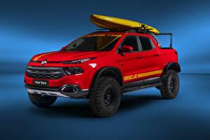 Fondos de escritorio Fiat Rojo Pickup 2018-19 Toro Rescue el carro