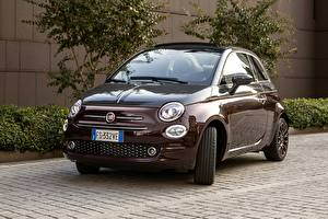 Images Fiat Burgundy Metallic 2018 500C Collezione by LUomo Vogue Cars