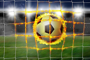 Images Footbal Fire Ball Net