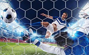 Image Footbal Men Ball Net Flight