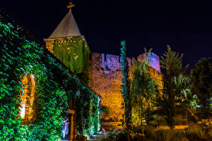 Pictures Fortification Belgrade Serbia Night