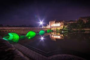 Bilder Frankreich Gebäude Flusse Brücken Lichtstrahl Metz Lorraine Städte