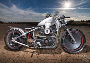 Fotos Harley-Davidson Wüste Seitlich Räder Motorräder
