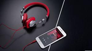 Hintergrundbilder Kopfhörer Smartphones Musik