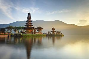 Bilder Indonesien Tempel Bucht Ulun Danu Beratan Temple Bali Städte
