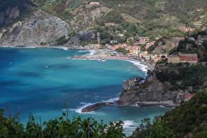Fotos Italien Cinque Terre Park Küste Haus Felsen Monterosso Städte