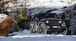 Bilder Jeep Sport Utility Vehicle Schwarz 2018-19 Wrangler Unlimited Rubicon
