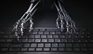 壁纸,,键盘,手,机器人,