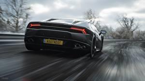 Picture Lamborghini Back view Motion Forza Horizon 4 Huracan Games Cars