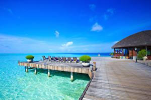 Images Maldives Spa town Sea Building Nature
