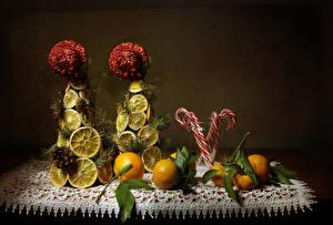 Wallpapers Mandarine Lemons Sweets Design