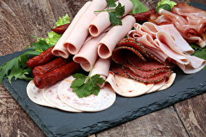 Wallpapers Meat products Sausage Ham Sliced food Food