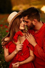Images Men Love Poppies Lovers Two Hat Hands Brown haired Dating female