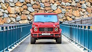 Photo Mercedes-Benz G-Wagen Front Red G 350 d AMG Line Cars