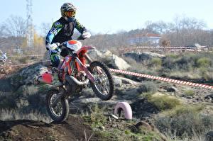 Fotos Motocross Helm Motorradfahrer Fahren Sport