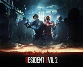 Pictures Pistols Zombie Resident Evil 2 2019 Police Leon Kennedy, Claire Redfied Games Girls