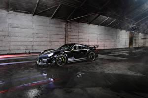 Hintergrundbilder Porsche Schwarz 2013-17 TechArt 911 Turbo GT Street R