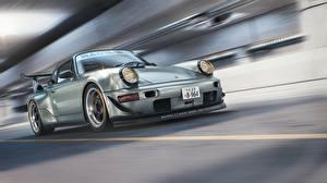 Hintergrundbilder Porsche Bewegung 964 RWB CGI Autos
