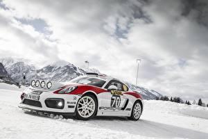 Bilder Porsche Tuning Schnee Cayman GT4 rally