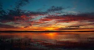 Bilder Flusse Sonnenaufgänge und Sonnenuntergänge Himmel Wolke Natur