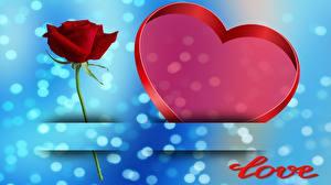 Fotos Rosen Valentinstag Herz Englisch Vorlage Grußkarte