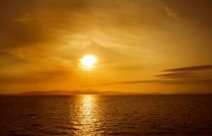 Fotos Meer Sonnenaufgänge und Sonnenuntergänge Himmel