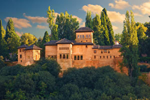Image Spain Castles Fortification Alhambra, Granada Cities