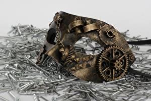 Bilder Steampunk Maske Zahnrad