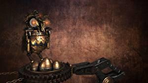 Fotos Steampunk Eulen Kette 3D-Grafik
