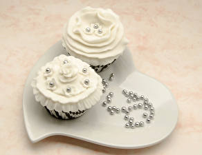 Photo Confectionery Little cakes 2 Heart Food