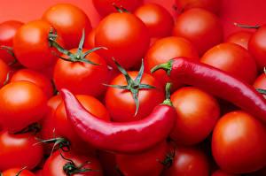 Hintergrundbilder Tomate Chili Pfeffer Rot