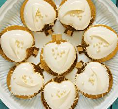 Fotos Valentinstag Törtchen Design Herz Lebensmittel