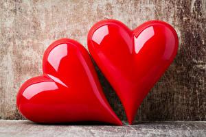 Hintergrundbilder Valentinstag Nahaufnahme Zwei Herz