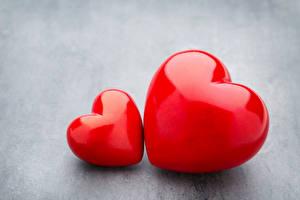 Bilder Valentinstag Grauer Hintergrund Herz 2 Rot