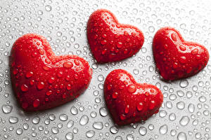 Hintergrundbilder Valentinstag Herz Tropfen