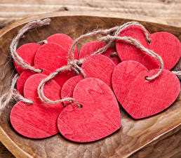Bilder Valentinstag Herz Hölzern Rosa Farbe