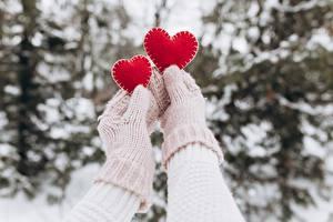 Hintergrundbilder Valentinstag Fausthandschuhe Hand Herz 2