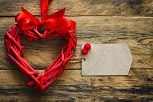 Hintergrundbilder Valentinstag Bretter Vorlage Grußkarte Herz Schleife