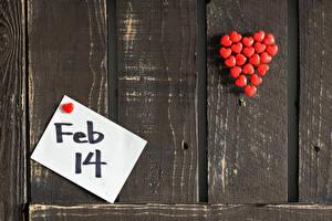 Fotos Valentinstag Bretter Wand Englisches Herz