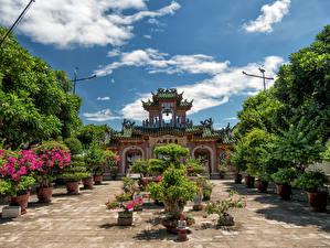 Hintergrundbilder Vietnam Tempel Strauch Fujian Assembly Hall Hoi An Städte
