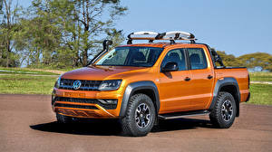 Fotos Volkswagen Orange Pick-up 2018 Amarok V6 Concept automobil