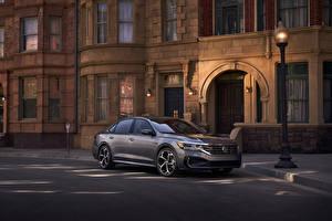 Bilder Volkswagen Graue Metallisch 2019 Passat R-Line Autos